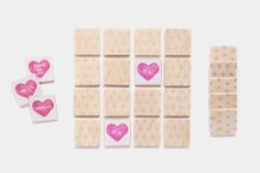 Rather than some food or lotion, try giving your guests this Adorable Mini Hearts Memory Wedding Game as a favor. Wedding games make the perfect favors because your guests wills tart using them before they even get home!