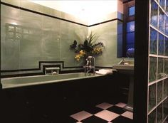 art deco bathroom and interior