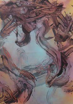 Judy Millar - 2016 acrylic and oil on canvas 180x125cm