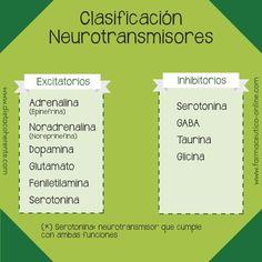 Clasificación de los neurotramisores