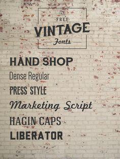 Font Must-Haves 004: Free Vintage Fonts | Jillianastasia
