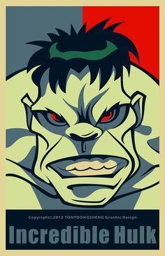 HERO(Obama style) by Dongsheng .H, via Behance