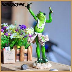 Animais De Jardim Dancing Frog Flatback Cute Resin Crafts Cartoon Ornament For Home Decoration Zakka Brinquedo Animais De Jardim