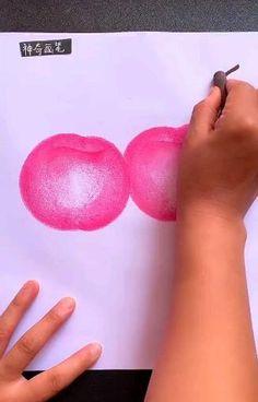 Oil Pastel Drawings, Oil Pastel Art, Crayon Art, Pencil Art Drawings, Art Drawings Sketches Simple, Art Drawings For Kids, Art Painting Gallery, Diy Canvas Art, Art N Craft