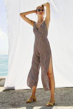 Slide View: 1: SIR The Label Zoe Slit Wide-Leg Jumpsuit