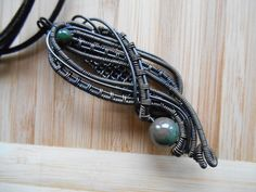 Bloodstone Black Iron Oxidized Wire Wrapped by OurFrontYard, $27.77