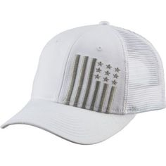 f47ded26 Academy Sports + Outdoors Men's Flag Trucker Hat (White/Grey, Size One  Size) - Men's Outdoor Apparel, Men's Hunting/Fishing Headwear at Academy  Sports