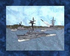 US Navy - Block 2 - Destroyer and Battleship Fleet - Pattern Only