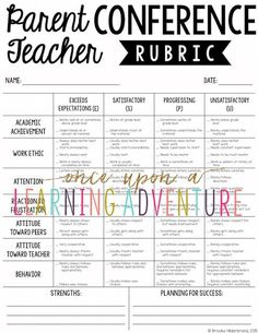 I like the wording of the headings! Once Upon a First Grade Adventure: How to Approach Parent Teacher Conferences Like a Pro! Teacher Organization, Teacher Tools, Teacher Resources, Organized Teacher, Teachers Toolbox, Teaching Ideas, Student Led Conferences, Parent Teacher Communication, Parent Teacher Conference Forms