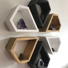 Custom Shelving / Wood Wall art - Originality by Lovelifewood Bookshelf Design, Wall Shelves Design, Diy Wall Shelves, Wall Design, Rustic Shelves, Wooden Shelves, Wooden Art, Wood Wall Art, Wall Décor