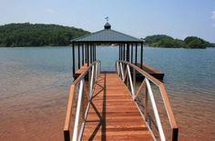 Nice wooden walk way to the dock. Lake Keowee, S. Lake View, Gazebo, Trail, Outdoor Structures, Nice, Kiosk, Pavilion, Cabana, Nice France