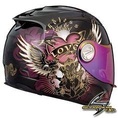 womens motorcycle helmet with pink sheld | ... 1100 PRECIOS BLACK PINK W/ SUNVISOR GIRLS SPORTBIKE MOTORCYCLE HELMET