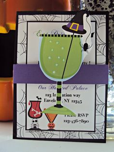 Halloween Party Invitation, Halloween Cocktail Party , Halloween Party