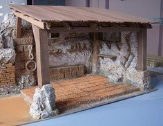 it forum topic. Christmas Float Ideas, Christmas Crafts To Make, Clay Houses, Miniature Houses, Nativity Stable, Halloween Scene, Christmas Nativity Scene, Church Activities, Crib Sets