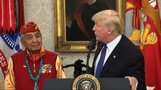 FLAGSTAFF, Ariz. (AP) — Families of Navajo war veterans who were honored Monday at the White House say they were dumbfounded that President Donald Trump used the event to take a political jab at a Massachusetts senator, demeaning their work with an unbreakable code that helped the U.S. win World War