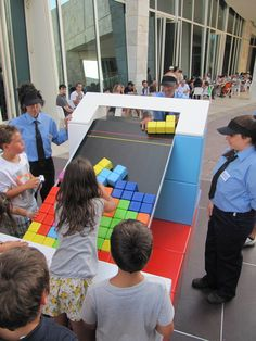 Life-size Tetris