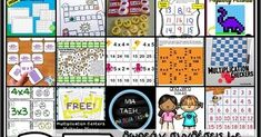 Παρακάτω σας δίνω διευθύνσεις με δωρεάν εκπαιδευτικό υλικό και ιδέες για την εκμάθηση των βασικών γεγονότων του πολλαπλασιασμού.Το καλό... Periodic Table, Education, Periodic Table Chart, Periotic Table, Onderwijs, Learning
