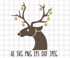 Christmas Svg, Xmas, Reindeer, Embroidery, Yule, Needlework, Needlepoint, Christmas Movies, Christmas