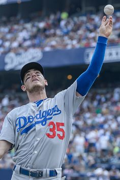 Cody Bellinger of Los Angeles Dodgers throws a ball to the fans at the end of the third inning during the MLB game against the San Diego Padres at Estadio de Beisbol Monterrey on May 2018 in. Get premium, high resolution news photos at Getty Images Baseball Guys, Dodgers Baseball, Baseball Stuff, San Jose Sharks, Dodgers Girl, Dodgers Fan, Dodgers Nation, Cody Bellinger, Mlb Games