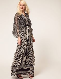 Mango Zebra Kaftan Maxi Dress  C$158.79        Kaftan maxi dress by Mango.