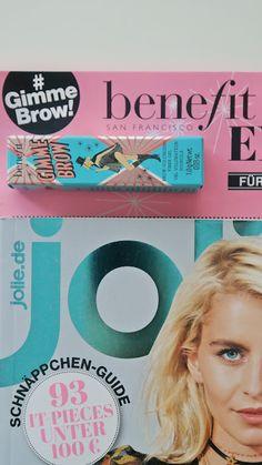 """Annashines - Beautyblog: Tipp: benefit """"Gimme Brow"""" Beauty Extra in der aktuellen jolie"""