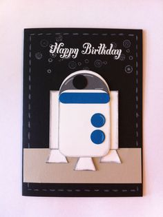 Star wars, R2D2, Punch art card, Stampin Up.