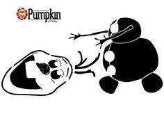 Olaf from Frozen Pumpkin Pattern
