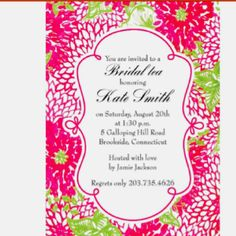 Lilly Pulitzer Inspired Invitation Printable By Lemonademoments