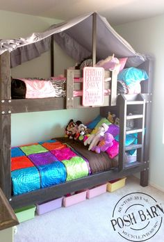 Canopy Idea For Over Top Of Bunk Bed Curtains Down Below For Bottom
