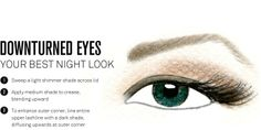 Downturned Eye makeup placement NIGHT LOOK