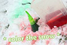 This would make a great project and then let the kids take photos of their snow masterpieces.