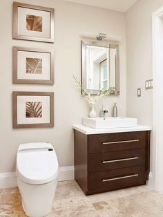 Discover how you can make your small bathroom seem big with these great bathroom vanity ideas. These vanity tips and ideas will give you style without taking away from your bathroom space. Create the look you want for your small bathroom. Small Bathroom Vanities, Bathroom Spa, Bathroom Design Small, Bathroom Renos, Bathroom Ideas, Bathroom Makeovers, Small Bathrooms, Simple Bathroom, White Bathroom