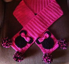 Ready to ShipMinnie Mouse Scarf   Child Size 5 by Shannanagans13, $20.00