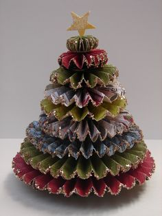 Rosette Christmas Tree-so sparkly!