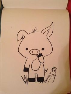 How to draw a pig!