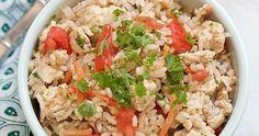 Healthy one pot turkey pilaf   Yankee Kitchen Ninja