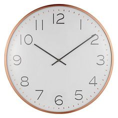 Buy Copper House by John Lewis Domed Wall Clock, Copper from our Clocks range at John Lewis & Partners. Wall Clock Copper, Wall Clocks, Copper House, Classic Clocks, Clock Shop, Travel Alarm Clock, Kitchen Clocks, Cosy Winter, Anglepoise