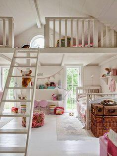 mädchenzimmer gestalten geräumig treppen