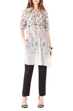 BCBGMAXAZRIA 'Taylur' Silk Tunic Blouse