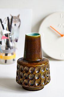 West Germany grøn vase - 175kr. Køb den på www.loppedesign.dk