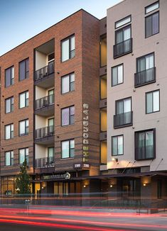 Image result for different color brick mixed use housing