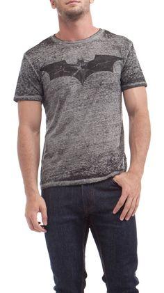 dim dim dim dim ... BATMAN!!! - I'd wear this...who cares if it is a guys shirt?