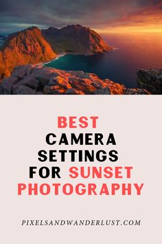 Shooting at sunset is challenging. The high contrast, fast-changing light can ma. Shooting at sunset is challenging. The high contrast, fast-changing light can make it difficult to decide on which s Photography Settings, Dslr Photography Tips, Landscape Photography Tips, Photography Lessons, Photography For Beginners, Sunset Photography, Photography Tutorials, Photography Business, Digital Photography
