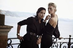 Adriana Lima & Karolina Kurkova for IWC Watches 2014 Campaign