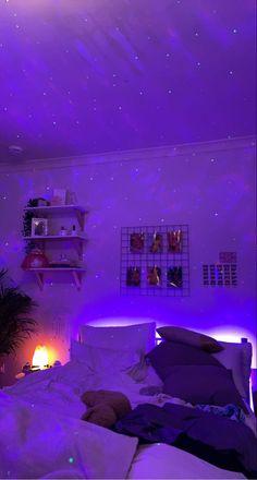 Neon Bedroom, Cute Bedroom Decor, Room Design Bedroom, Room Ideas Bedroom, Home Room Design, Rooms Home Decor, Stylish Bedroom, Bedroom Inspo, Pinterest Room Decor