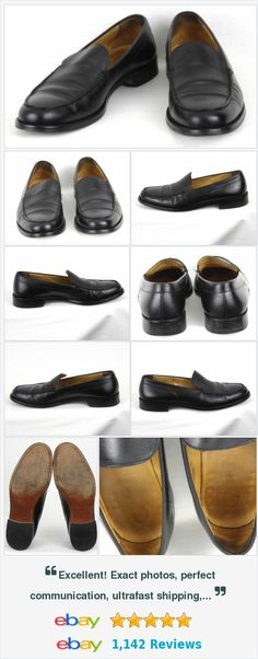 Polo Ralph Lauren Black Leather Slip On Loafers Mens Size 10D Made in Italy http://www.ebay.com/itm/Polo-Ralph-Lauren-Black-Leather-Slip-On-Loafers-Mens-Size-10D-Made-in-Italy-/282041559477?ssPageName=STRK:MESE:IT