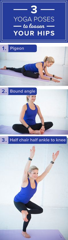 Sit at your desk all day? Try these 3 yoga poses to loosen your hips!