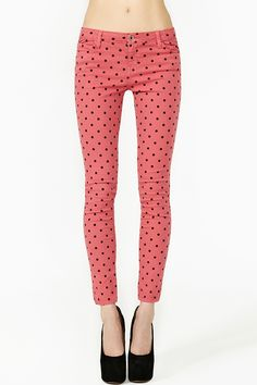 Hot Spot Jeans in Pink