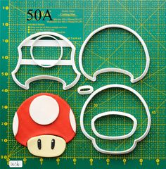 Toad Cookie Cutter.The cookie cutters let you make beautiful cookies EASY. Please follow me and REPIN the cookie cutters on my board ,also you can click the LIKE button, or share it to you friends,thank you very much.Best wishes for you !