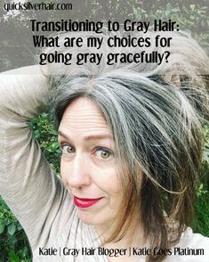 "In Transitioning to Gray Hair: Top Ten Questions my answers to the most commonly asked questions from ""What are my choices for going gray gracefully?"" to ""what color will my hair be?"" hair transitioning to Transitioning to Gray Hair: Top Ten Questions Grey Hair Over 50, Short Grey Hair, Long Hair, Hair Color For Women, Cool Hair Color, Grey Hair Cool Skin Tone, Grey Hair Colors, Going Grey Transition, White Hair Highlights"